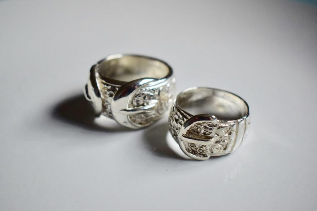 Buckle Rings Sterling Silver Any Size