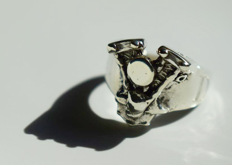 Sterling Silver Engine Ring